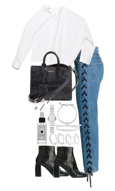 """""""Untitled #3734"""" by theeuropeancloset on Polyvore featuring STELLA McCARTNEY, Fallon, Burberry, Monica Vinader, BERRICLE and Yves Saint Laurent"""