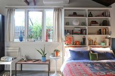 shelves behind bed - Google Search