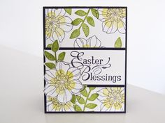 Stampin Up Secret Garden   Easter Card