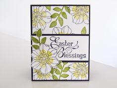 Stampin Up Secret Garden   Easter Card