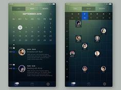 「#app #design #ios #calendar #ui #ux #iphone #gradient #graphics #graphicsdesign #minimal #flatdesign #behance #dribbble」