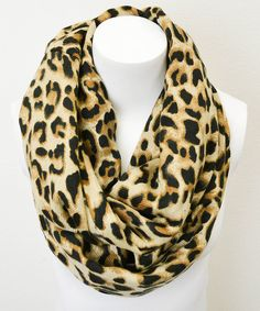 Take a look at this Leto Collection Brown Leopard Infinity Scarf on zulily today!