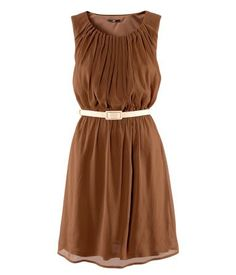 Cute Brown dress! pinned with Bazaart