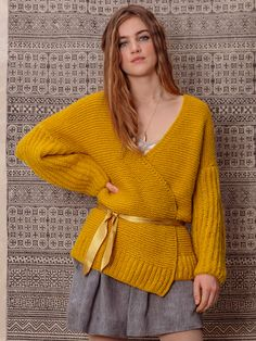 MELISSA jakke i Phil Nuage fra Phildar. Sarees, Knit Crochet, Autumn Fashion, Pullover, Knitting, Knits, Fabric, Sweaters, Clothes