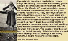 Narcissists will rage if you defend yourself from their vile acts, or set boundaries. They will punish you for not letting them abuse you.