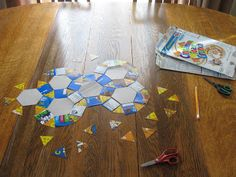 Almost Unschoolers: Cereal Box Tessellations