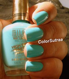 MILANI Nail Lacquer High Speed Fast Dry : Swatches and Review Aqua Brisk