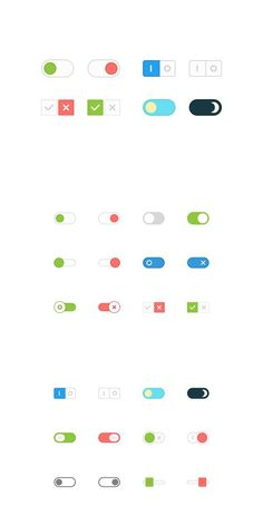 This pack contains 12 flat vector toggle buttons. Stylish and flat buttons for modern web projects. Game Ui Design, Form Design, Ui Ux Design, Interface Design, Mobile App Design, Mobile Ui, Switch Ui, Ui Buttons, Overlays Instagram