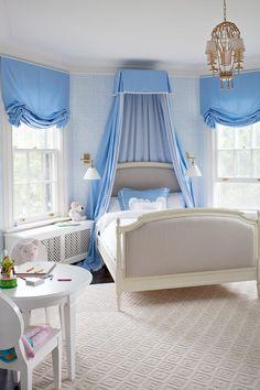 House of Turquoise~bed crown Girls Bedroom, Blue Bedroom, Trendy Bedroom, Dream Bedroom, Bedroom Decor, Bedroom Lighting, Bedroom Sconces, Girls Canopy, Bedroom Ideas