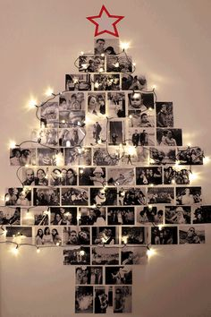 Cute photo decorations instead of a tree!
