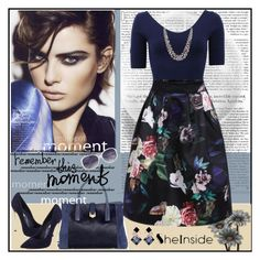 """""""Floral Skirt"""" by lovee39 ❤ liked on Polyvore featuring Michael Kors and Casadei"""