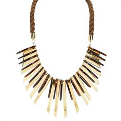 Natasha Disc and Pendant Rope Collar Necklace #VonMaur #Natasha #Statement #Bold #Jewelry