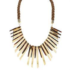 Natasha Disc and Pendant Rope Collar Necklace #VonMaur #Natasha #Statement #Bold #Jewelry
