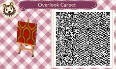 pixelpalindrome:  I made the carpet from The Shining for ACNL. The pattern looks stretched out on the easel, but once you set it as carpet it looks fine. Great for creepy homes!