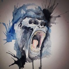Gorilla • Watercolor •