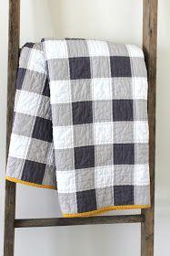 craftyblossom: gingham patchwork quilt.