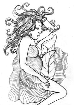 Breastfeeding and Pregnancy drawings - Ankolie