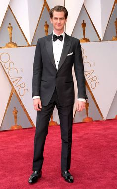 Andrew Garfield from Oscars 2017: Best Dressed Men  Tom Ford can do no wrong, therefore neither can Andrew tonight. Especially in those two-toned shoes.