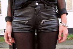 black leather hot pant, fashion, urban gothic