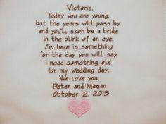 Embroidered Flower Girl Handkerchiefs Hankerchiefs wedding hankies gift poem personalized hankies poem on Etsy, $38.95