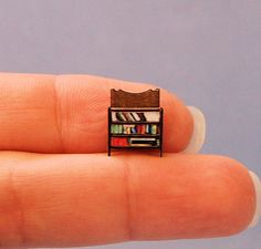 1/144th inch scale miniatureBookcase by sdkminiatures on Etsy, $10.00