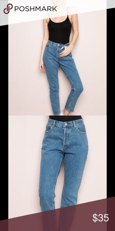 "Brandy Melville Kenzo Denim DO NOT BUY THIS LISTING! Download the Dote app and use the code ""PDIN"" to get these pants for $35 NWT plus FREE SHIPPING. It comes straight from the Brandy warehouse with receipts! Brandy Melville Jeans Boyfriend"