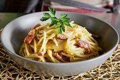 Η αυθεντική ιταλική καρµπονάρα - Photo Gallery   γαστρονόμος No Cook Meals, Spaghetti, Pasta, Cooking, Ethnic Recipes, Food, Kitchen, Essen, Meals