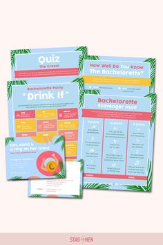 It's not a bachelorette weekend without a few fun games to get the party started! We created four classic and fun beach-themed bachelorette party activities the entire bride squad will love. Choose from a Bachelorette Party Scavenger Hunt, Drink If Drinking Game, Groom Quiz, Bridal Trivia or purchase the bundle and get one game free! Pair with matching bachelorette party invitations, cups, coozies and shirts from our Sun & Sand Bachelorette Party Collection to complete the theme. Bachelorette Party Scavenger Hunt, Bachelorette Party Activities, Beach Bachelorette, Bachelorette Party Invitations, Party Games, Fun Games, Yard Wedding, Get The Party Started