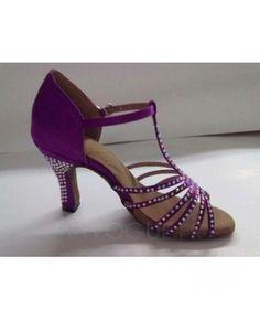 Agrémenté de strass Violet Chaussures Femme Danse