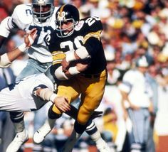 6a243ff4ca3 Rocky Bleier Signed Pittsburgh Steelers Super Bowl X Action Photo SB Champs
