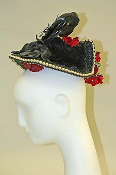 (2/3) Hat Date: ca. 1890 Culture: American Medium: silk, feathers Dimensions: [no dimensions available]