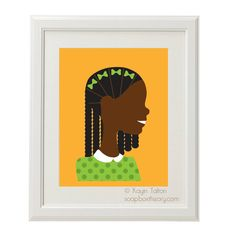 Black Girl Prints from SoapBox Theory | Black Girl with Long Hair