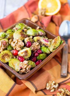 These Brussels Sprouts with Cranberries and Walnuts will be the perfect addition to your Thanksgiving or Christmas table. They are simple, festive, and delicious! I'm partnering with California Walnuts to bring you a year of nutty and delicious walnut recipes. This post is sponsored by California Walnuts, but all opinions are my own. Brusselssssss. Love 'em or hate 'em, they are a Thanksgiving staple. And I just so happen to love them, especially when they're roasted or shredded i...