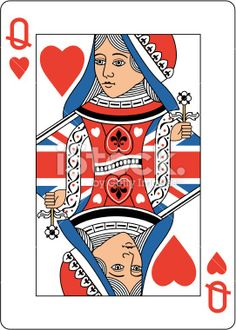 Union jack Queen of Hearts Two stock vector art 19906686 - iStock