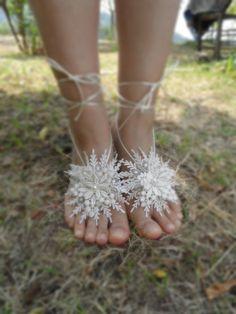 wedding anklet,  bridal anklet, white flower, Beach wedding barefoot sandals, bangle, wedding anklet, anklet, bridal, Free Ship ---
