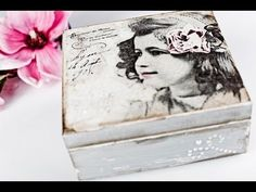 Decoupage tutorial - box with pearls - YouTube