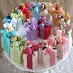 Flower Bouquet Favor Box with choice of Candy, Tea, Sachet