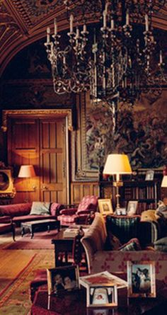 THE DRAWING ROOM at Eastnor Castle near Wales