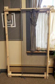 Loom, Big Boy Adjustable Twining Loom With Leg Set, Makes X rug Plus multiple sizes. Rug Loom, Loom Weaving, Steel Rod, Adjustable Legs, Loom Knitting, Free Knitting, Fine Furniture, Woven Rug, Rug Making