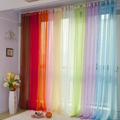 Colorful Sheer Curtains Elegant Tulle Voile Window Curtain Drape Panel Sheers for Living Room, Weddi Tulle Backdrop, Tulle Curtains, Home Curtains, Curtains With Blinds, Curtain For Door Window, Window Curtains, Outdoor Curtains, Wedding Ceiling, Luxury Curtains