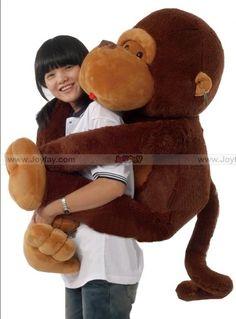 "Ginat Fat 51"" Monkey   http://www.joyfay.com/us/ginat-huge-fat-51-monkey-gorilla-stuffed-animal-plush.html#"