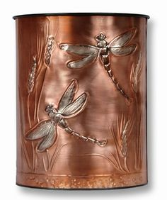 Our Copper Waste Baskets are hand embossed polished copper plates ...