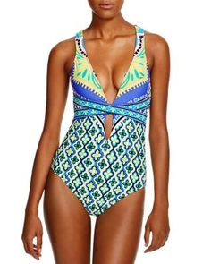 2ad7066cd18 Trina Turk Shangri La One Piece Swimsuit Women - Swimsuits & Cover-Ups -  Bloomingdale's