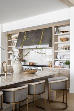 PC Contemporary Project: The Dining Space, Kitchen, & Dining Nook Space Kitchen, New Kitchen, Kitchen Dining, Kitchen Ideas, Kitchen Decor, Modern Farmhouse Kitchens, Rustic Kitchen, Home Kitchens, Cool Room Decor