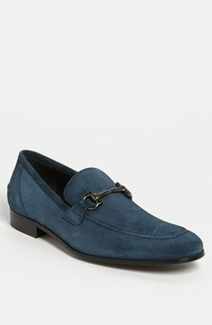 Salvatore Ferragamo 'Tapas' Suede Bit Loafer available at #Nordstrom