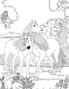 Coloriage Chevaux Amoureux Dans Bella Sara Horse CraftsEasy Christmas CraftsHorse PaintingsAdult ColoringColoring PagesHorse
