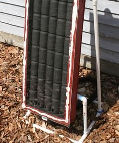 Solar heater big enough to heat a garage.this site tells you how to do it with soda cans . heat a greenhouse or coop too! Cool idea to share about solar energy Do It Yourself Furniture, Do It Yourself Home, Diy Projects To Try, Home Projects, Solar Projects, Energy Projects, Craft Projects, Weekend Projects, Project Ideas