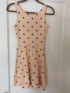 H&M pink polka dot skater dress.  Size 4.  Worn once, excellent condition.  $18 shipped in U.S.