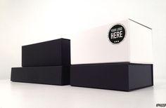 Design e produzione di scatole con chiusura a calamita e shopping bags non concvenzionali