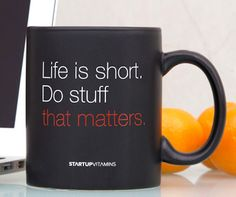 This Ceramic #Coffee Mug with an inspirational quote printed on it is brought to you by #Startup Vitamins.
